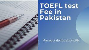 toefl test fee in pakistan